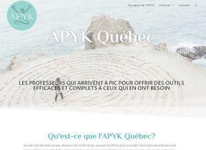 Lancement du site web de l'APYK