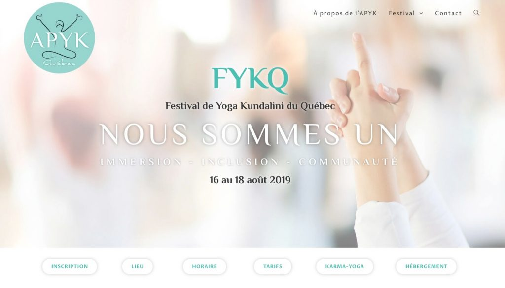 Festival de yoga Kundalini du Québec - août 2019